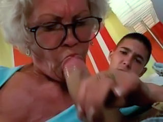 Blowjob Glasses Granny Older