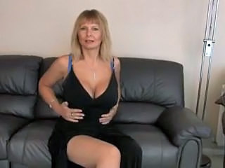 Amazing Big Tits Blonde MILF Mom
