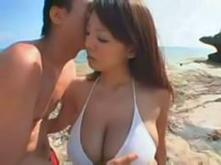 Amazing Asian Beach Bikini Cute Japanese Natural Outdoor Teen