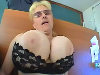 BBW Big Tits Glasses Mature Pov Silicone Tits