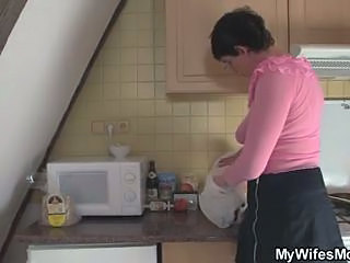 Kitchen Mature Mom