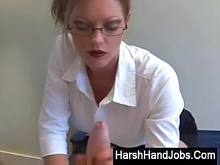CFNM European Glasses Handjob MILF Office Pov Secretary