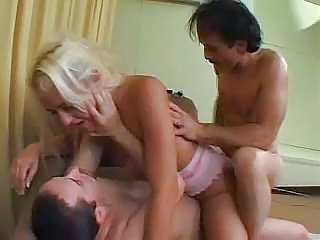 Double Penetration MILF Threesome