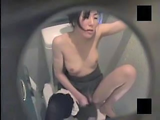 Asian MILF Toilet Voyeur