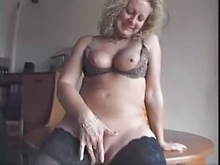 British European Masturbating Mature Stockings