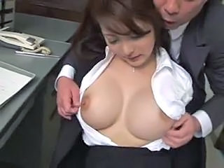Asian Big Tits Cute MILF Nipples Office