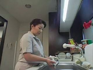 Asian Japanese Kitchen Mature MILF