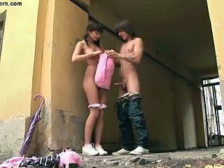 Outdoor Public Skinny Teen