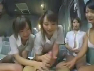 Asian CFNM Handjob Japanese Teen Uniform