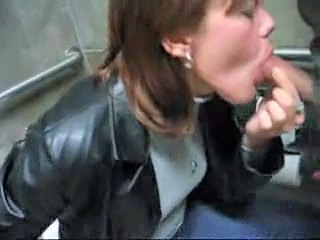 Amateur Blowjob Clothed Public Toilet