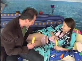 Daddy Daughter Extreme Old and Young Panty Teen