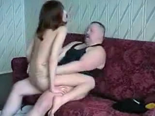 Amateur Daddy Daughter Homemade Old and Young Riding Teen