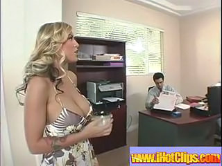 Amazing Big Tits MILF Office