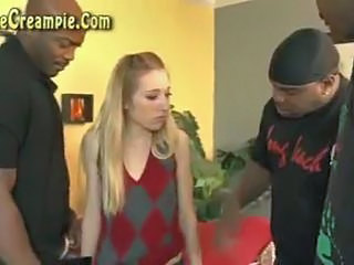 Blonde Extreme Gangbang Interracial Teen