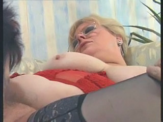 Glasses Granny Hairy Lesbian Licking Stockings