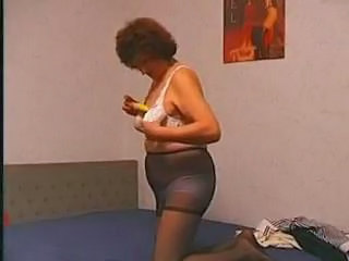 Granny Hairy Homemade Pantyhose