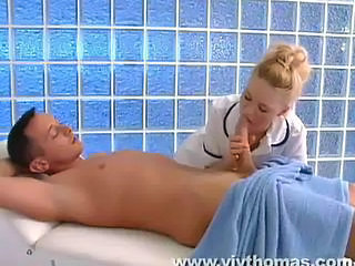 Young masseuse cares for big cock Sex Tubes