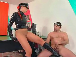 Feet Latex MILF Office