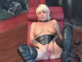 Masturbating Mature Stockings Tattoo