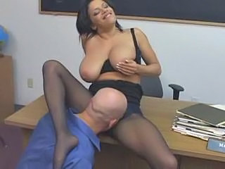 Big Tits Licking MILF Natural Pantyhose SaggyTits Teacher