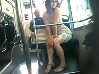 Bus French Public Teen Voyeur