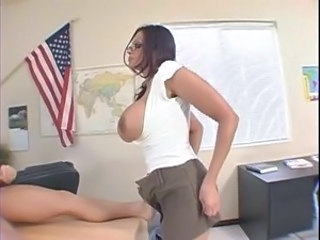 Amazing Big Tits MILF Pornstar Teacher