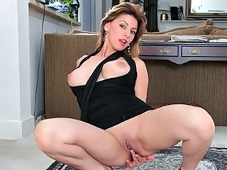 Amazing Cute Masturbating MILF Pornstar Shaved Solo