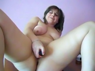 Beach Chubby Dildo Masturbating MILF SaggyTits Solo Toy Webcam