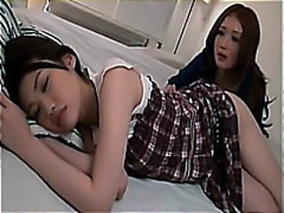 Asian Cute Lesbian Sleeping Teen