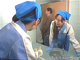 Asian Teen Toilet Uniform