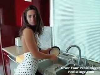 Cute Daughter Kitchen Teen