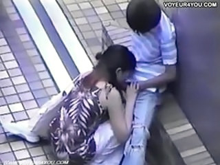 Amateur Asian Blowjob Clothed Public Voyeur