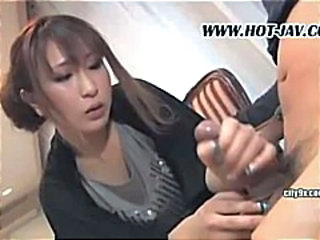 Asian Bus CFNM Handjob MILF