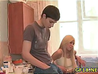 Blonde Kitchen Teen