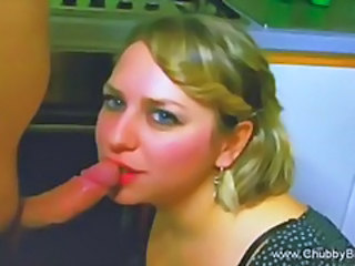 Amateur Blowjob Chubby Kitchen MILF Wife