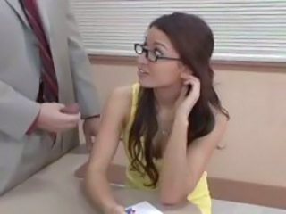 Glasses Handjob Long hair Old and Young Student Teacher