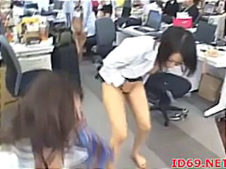 Asian Babe Japanese Office Public