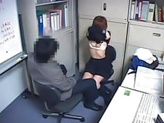 Asian  Japanese Office Stripper Voyeur