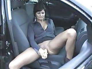 Car Dildo Masturbating Mature