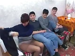 Gangbang Homemade Mature Mom Old and Young Pantyhose Russian