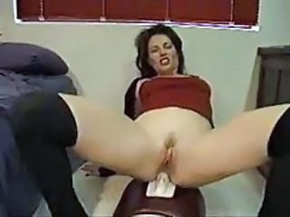 Anal Machine MILF Stockings
