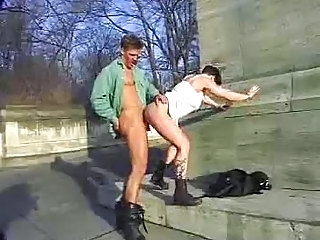 Bus Clothed Doggystyle European German Hardcore Mature Outdoor Public