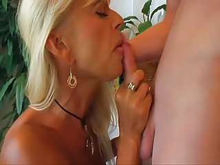 Bathroom Blonde Blowjob Mature Mom Old and Young