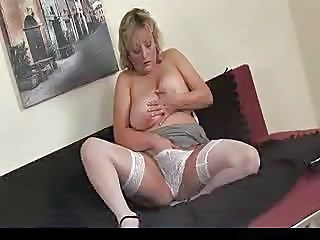 Lingerie Masturbating Mature Mom Natural Panty Solo Stockings