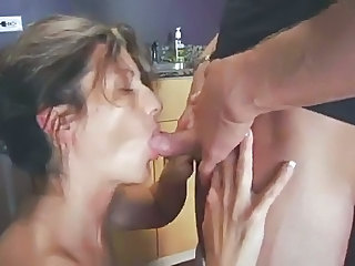 Blowjob Kitchen Mature Mom Small cock