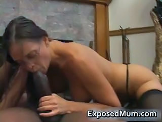 Big cock Blowjob Glasses Interracial MILF