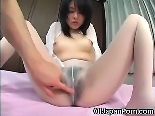 Ass Hairy Japanese Pantyhose Teen