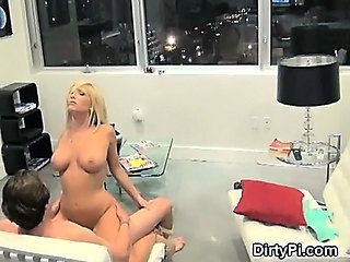 Blonde  Riding Teen Voyeur