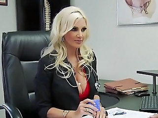 Amazing Big Tits Blonde Cute Doctor MILF Pornstar
