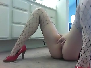 Résille Masturbation Orgasme Solo Webcam
